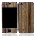 Patchworks Wood Skins Teak Hair Line for iPhone 4, 4S (1002b)